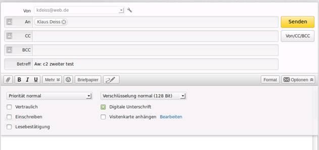 S/MIME Zertifikate mit Webmailern - Beispiel web.de: Wir basteln uns ...